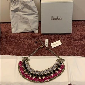 badgley mischka couture rhinestone choker necklace